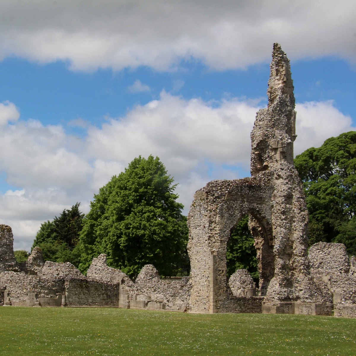 The  remains of the Priory church