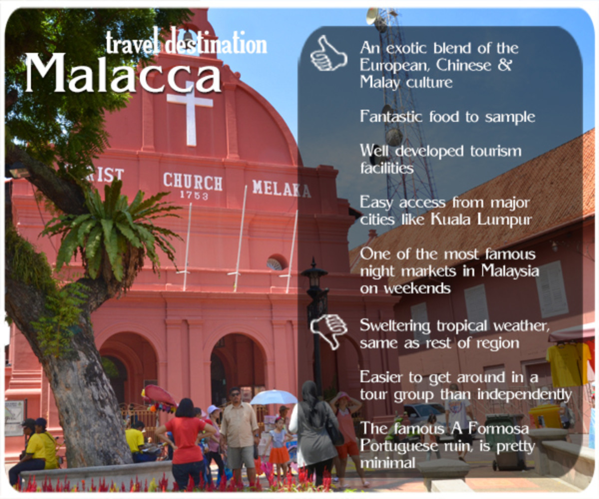 Malacca is a perfect entry point for visitors new to Malaysia. There is a bit of everything. The best of three distinct cultures brought together by the Straits Settlements.