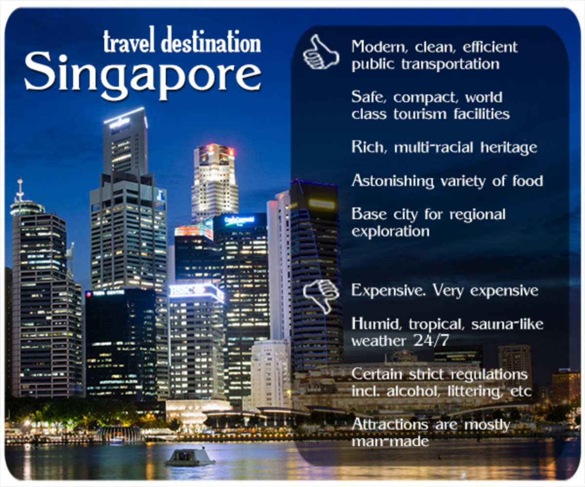 The richest city nowadays of the former Straits Settlements, the tiny nation of Singapore offers a dazzling myriad of activities for visitors.
