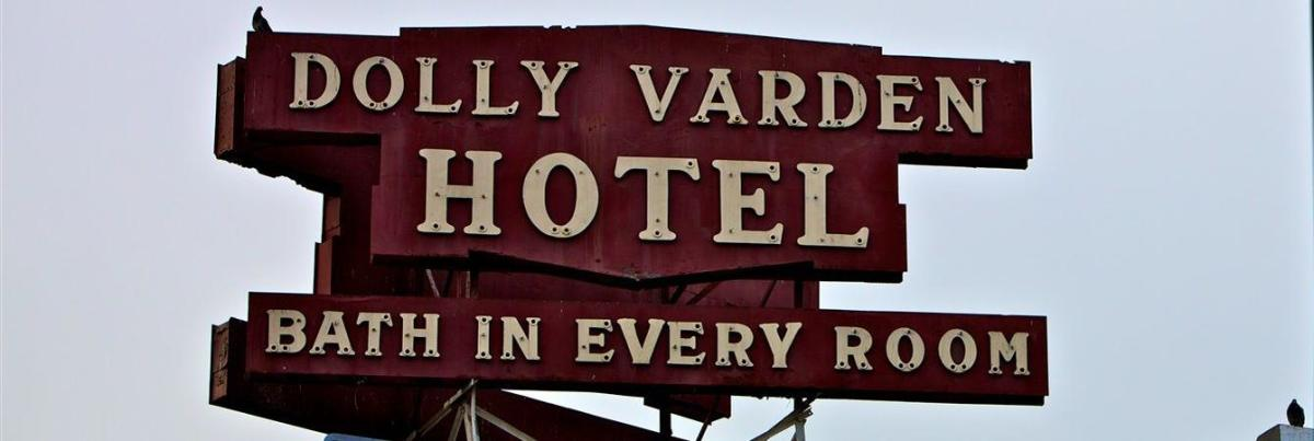 The iconic Varden Hotel sign