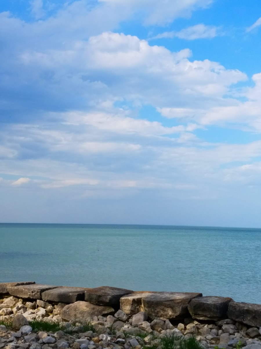 A stunning view of Lake Erie at East Harbor State Park, Northwest Ohio.