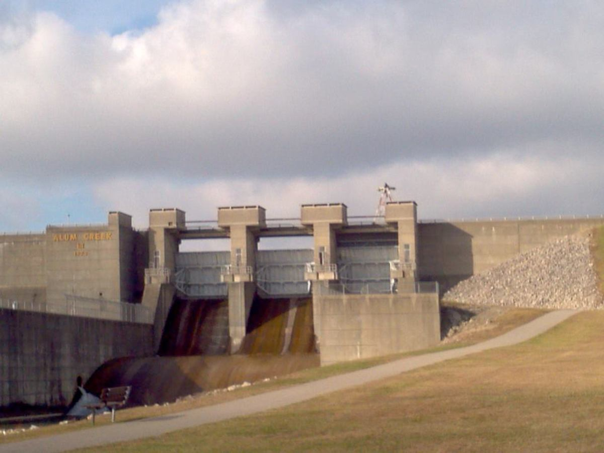 This is the Below Dam, run by the U.S. Army Corp of Engineers.