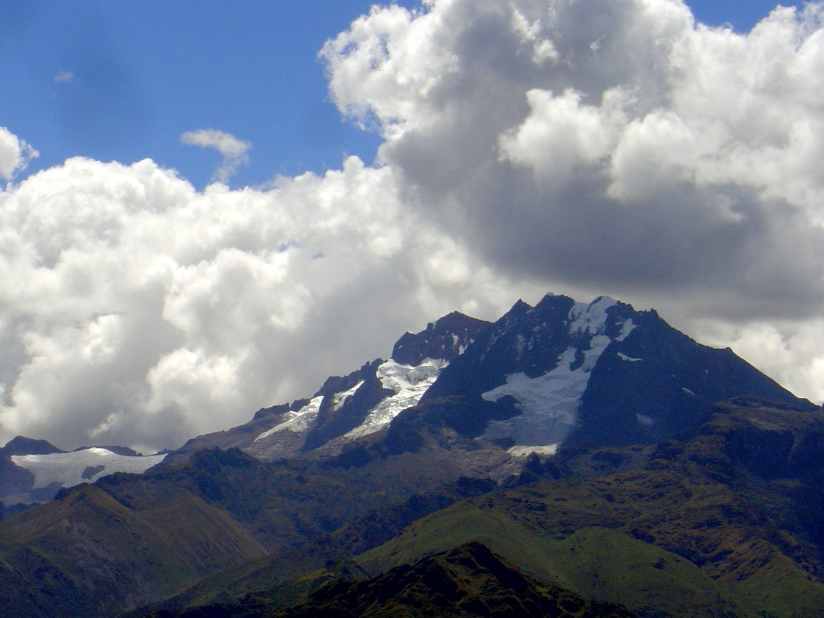 The great Andes mountains with their glaciers were home to the Inca people who built Machu Picchu before the time of Columbus and the Spanish explorers.