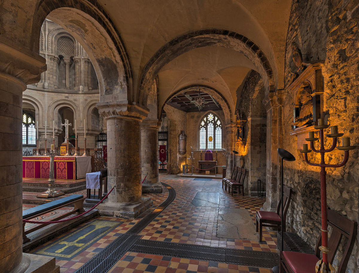 South aisle of St Bartholomew the Great, London