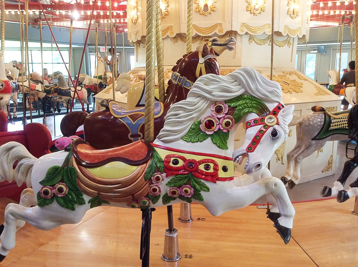 The sculptures of Sage and Parsley are based on  carousel horses at the Burnaby Village Museum.