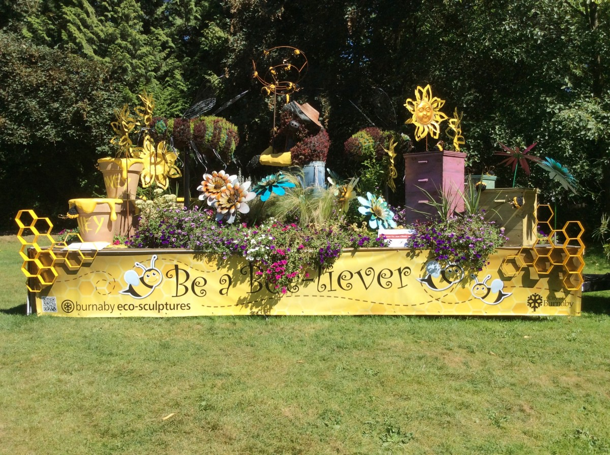 The Be a Bee-liever display parked at Burnaby Village Museum in August