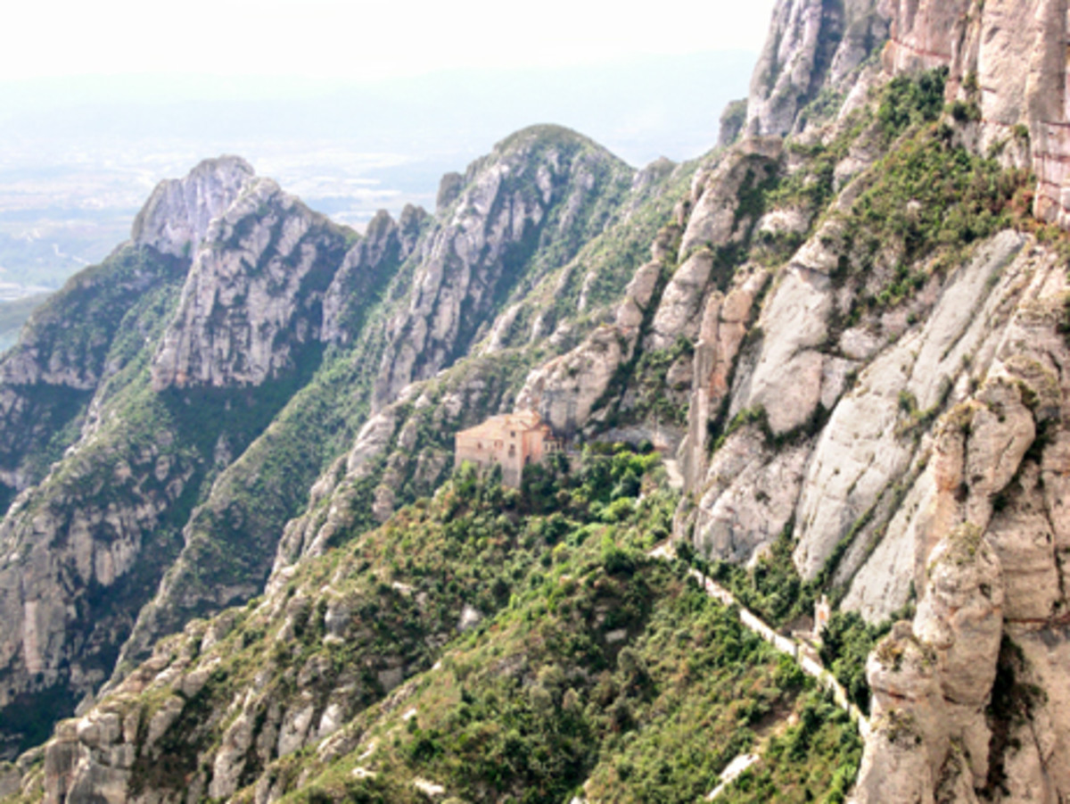 Path to the Holy Cave at Montserrat