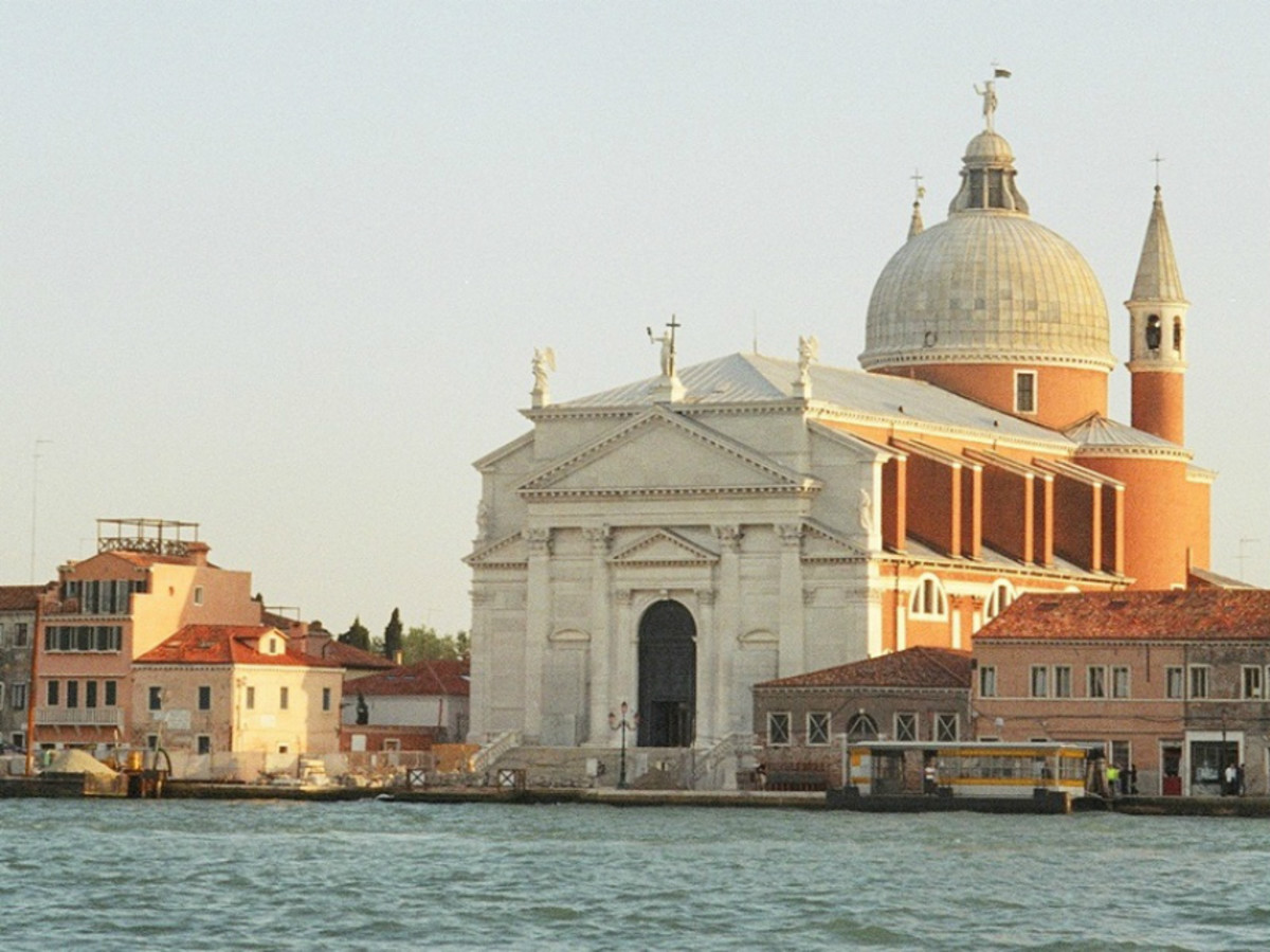 The Church of San Giorgio Maggiori is a Benedictine church situated on the island of San Giorgio Maggiori, across the Giudecca Canal from St. Mark's. The church is of Renaissance architecture, was designed by Palladio, and opened in 1610.
