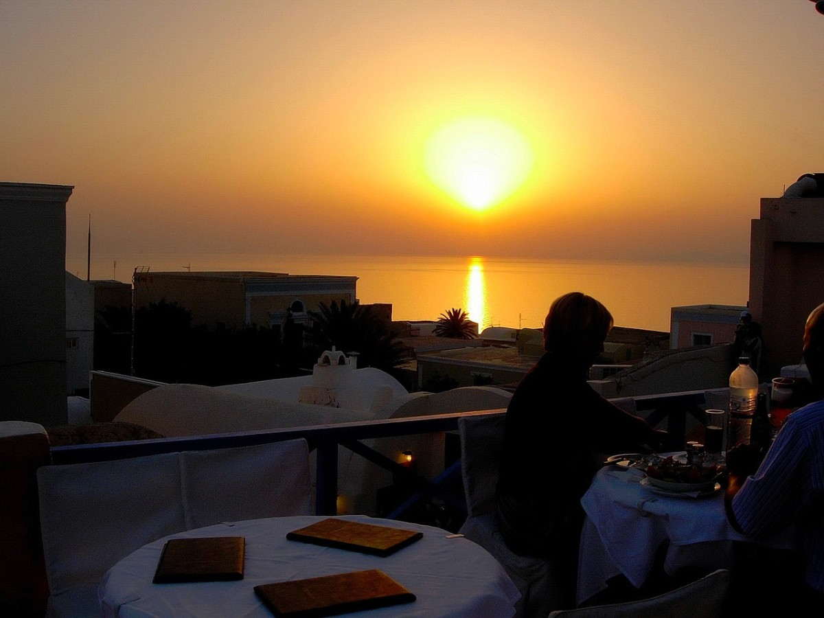 Santorini sunsets are world-renowned