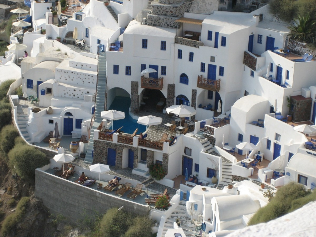 Hotels on Santorini have lots and lots of steps