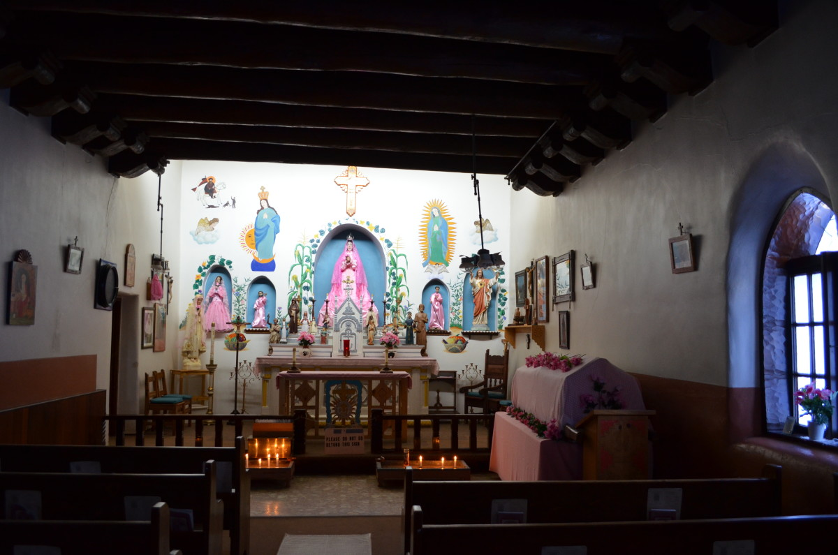 Inside of San Geronimo Church at Taos Pueblo.