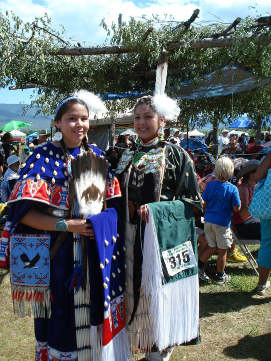 Puebloan women in their finery for the feast day.