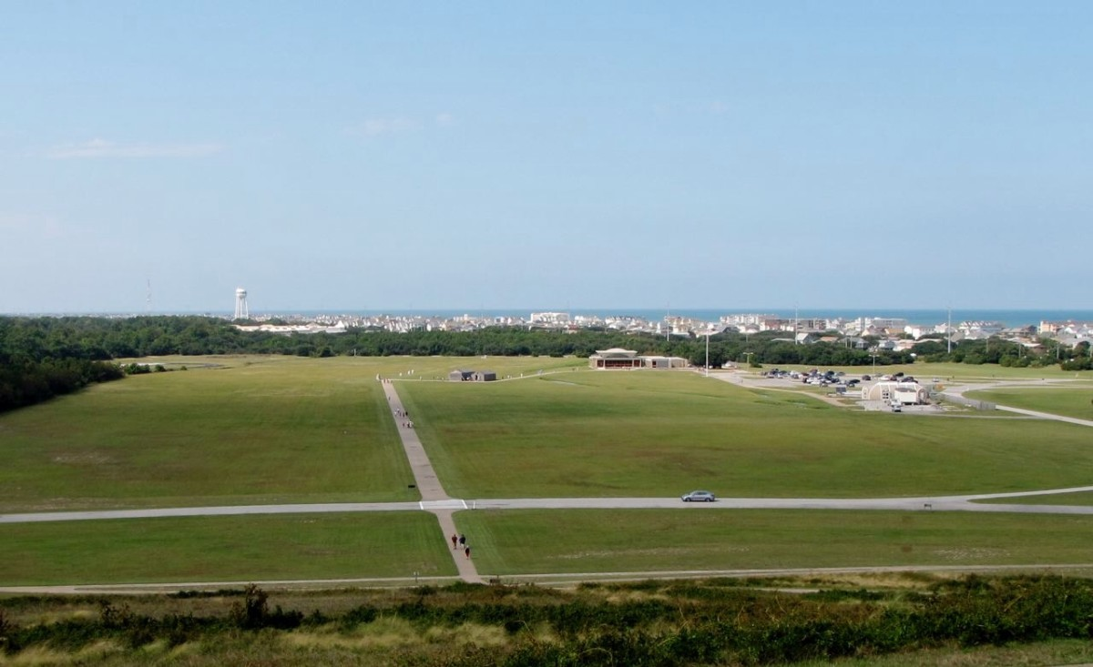 The view from the Wright Brothers Memorial