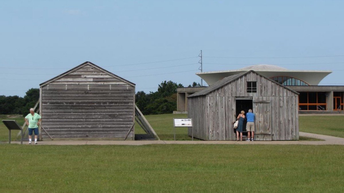 Hangar, workshop and home of the Wright Brothers while in Kitty Hawk.