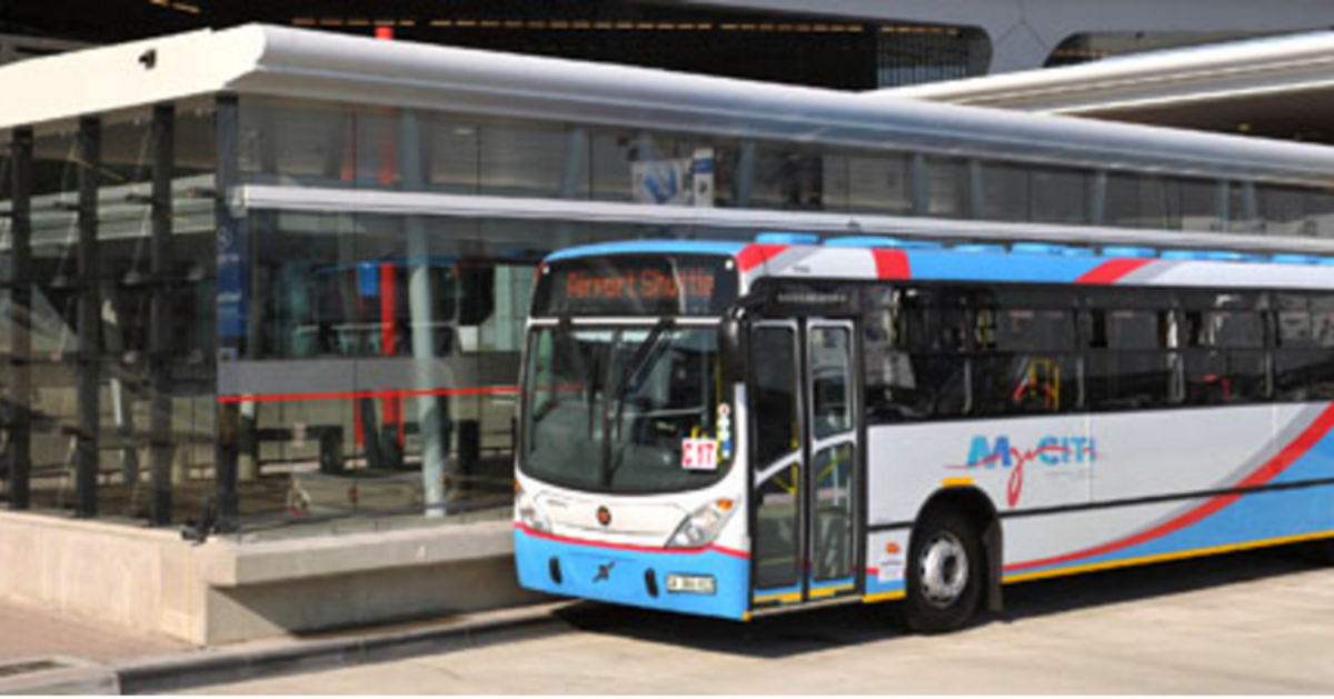 Myciti bus at terminal