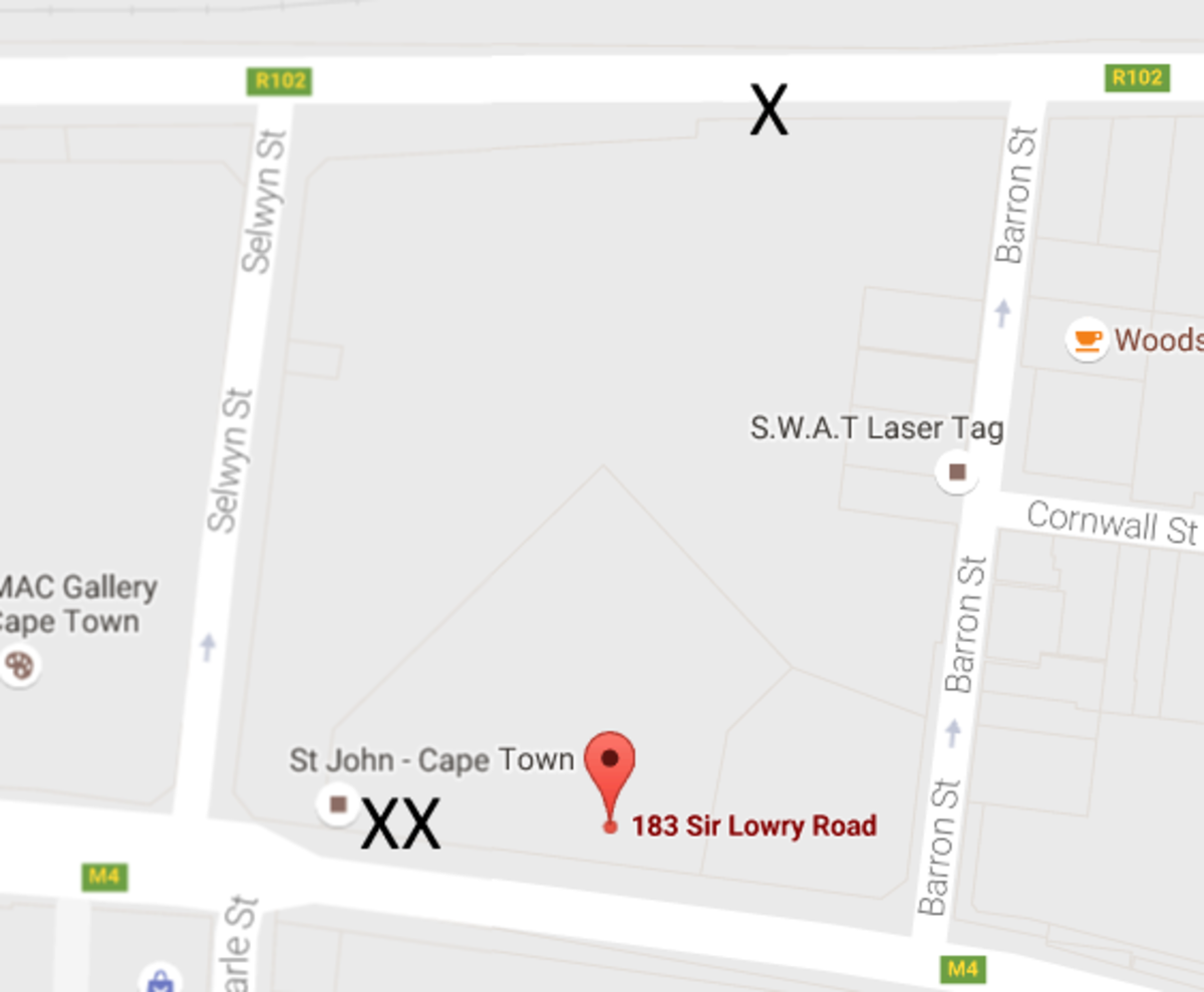 In order to get a Transport ID Card if you're over 60,  you need to go to the rear offices of GA at 183 Lowry Road where the single X is.