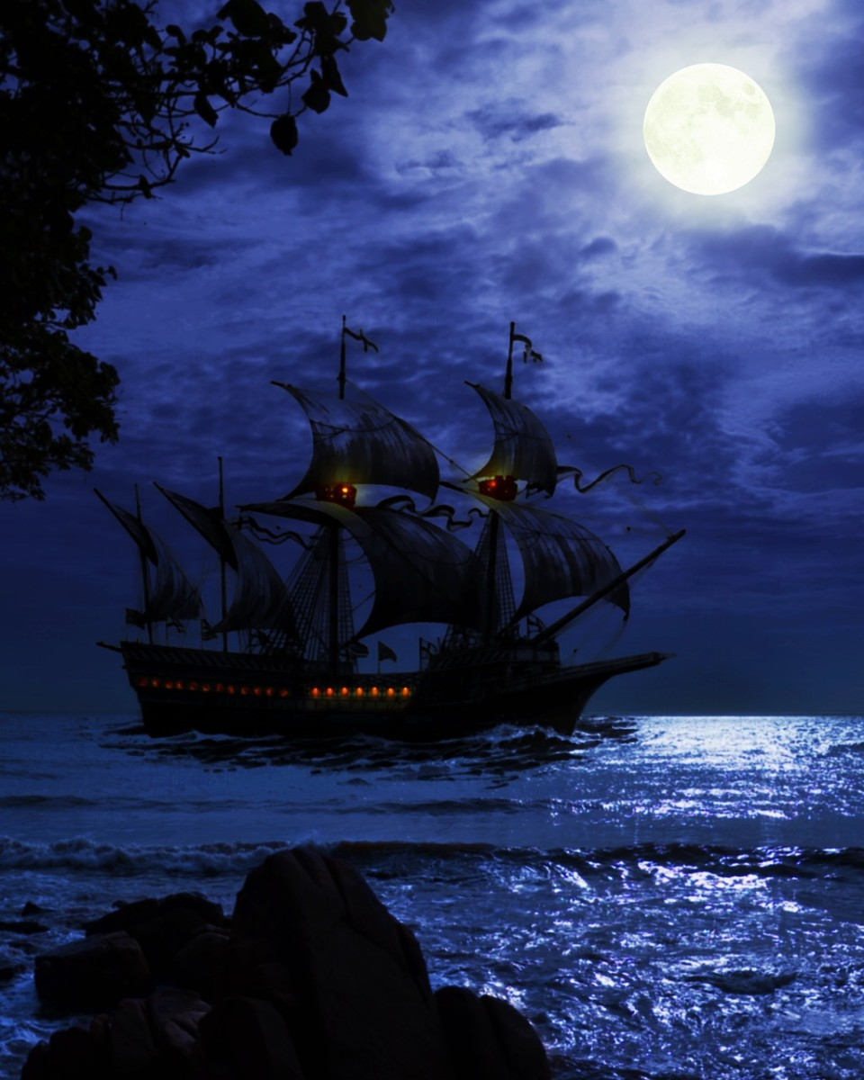 Pirates and pirate ships are a part of the haunted Caribbean lore.