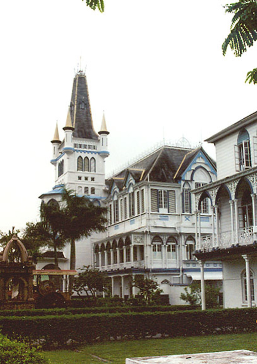 Wooden church in Georgetown, Guyana.