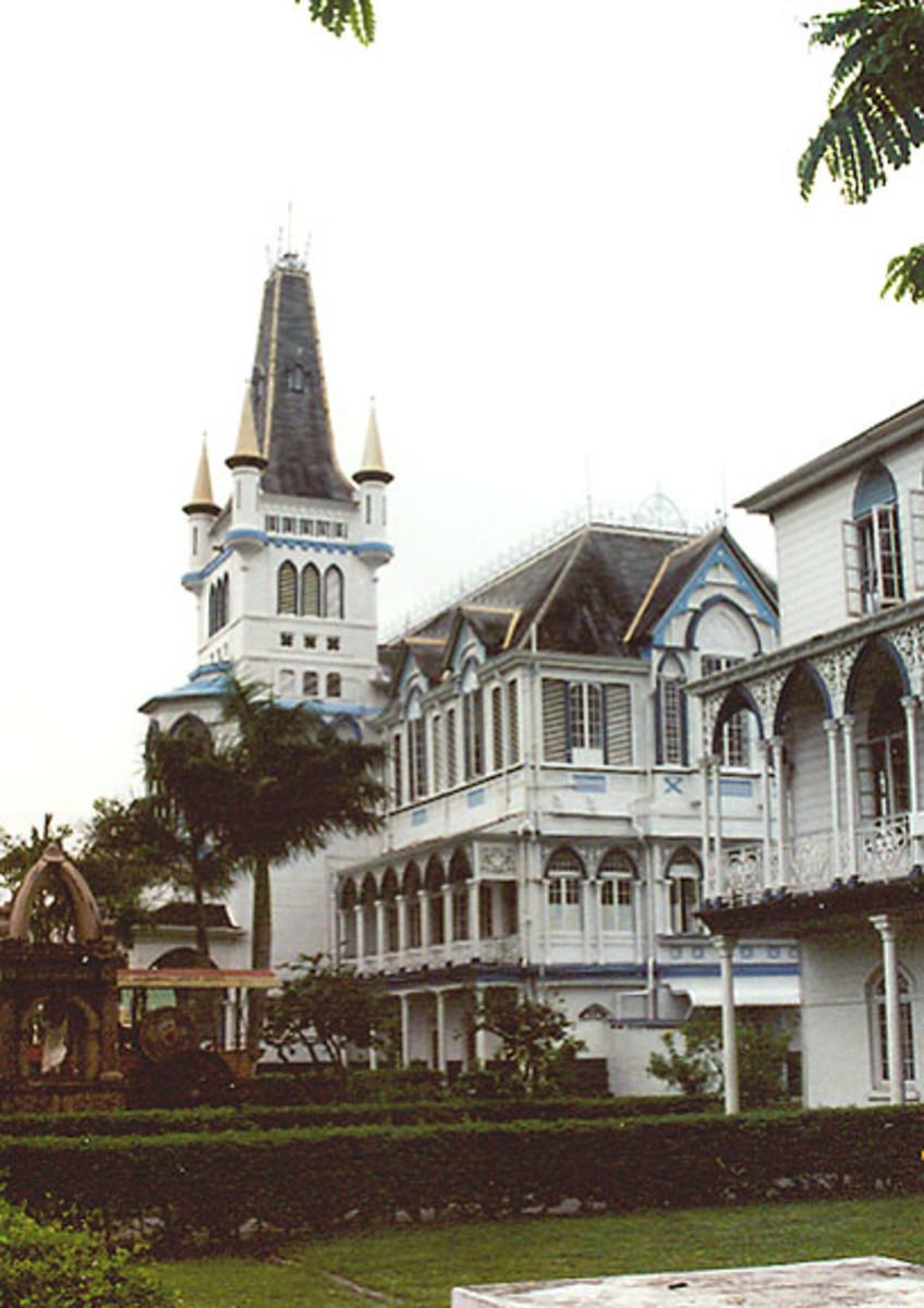 Wooden church in Georgetown, Guyana.