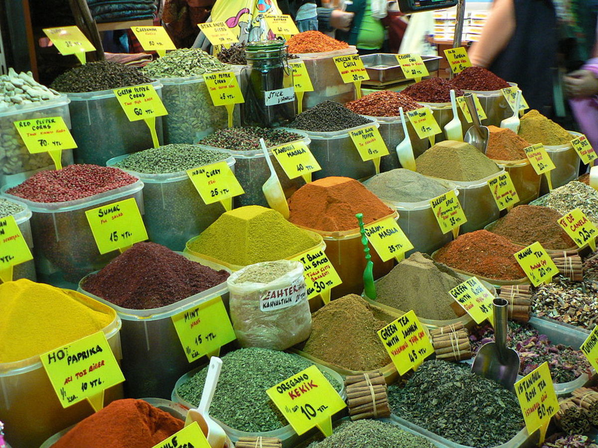 Feast your eyes on a rainbow of flavors at the Spice Bazaar in Istanbul, Turkey.