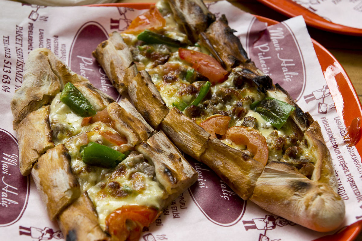 Pide, a savory Turkish snack found all over Istanbul