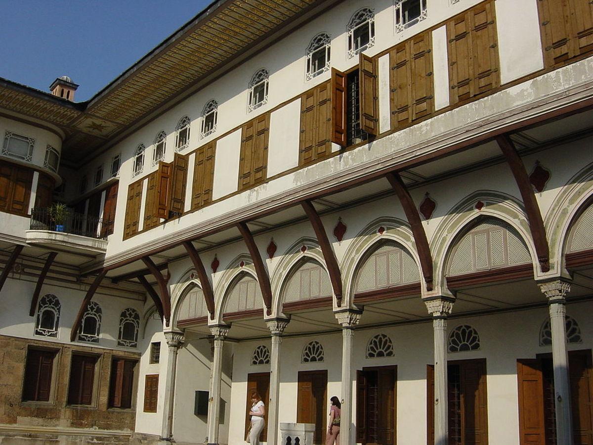 Harem Courtyard in Topkapi Palace, Istanbul, Turkey