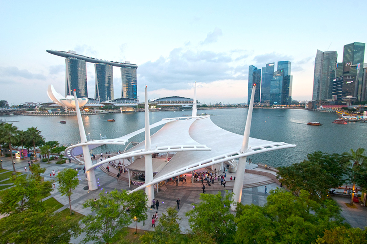 The outdoor theare of Esplanade - Theatres on the Bay.