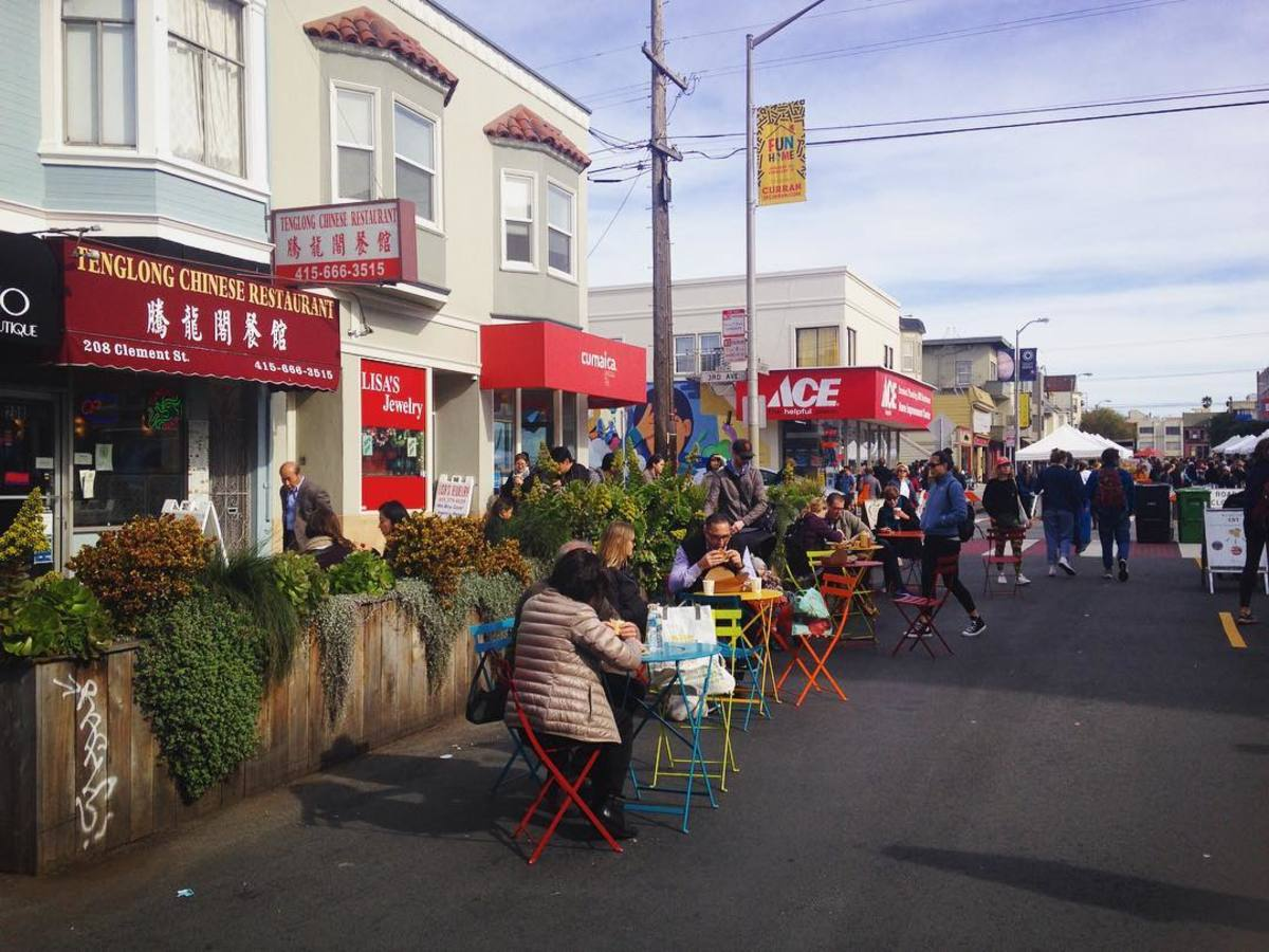 Street fair on Clement St. in Richmond District