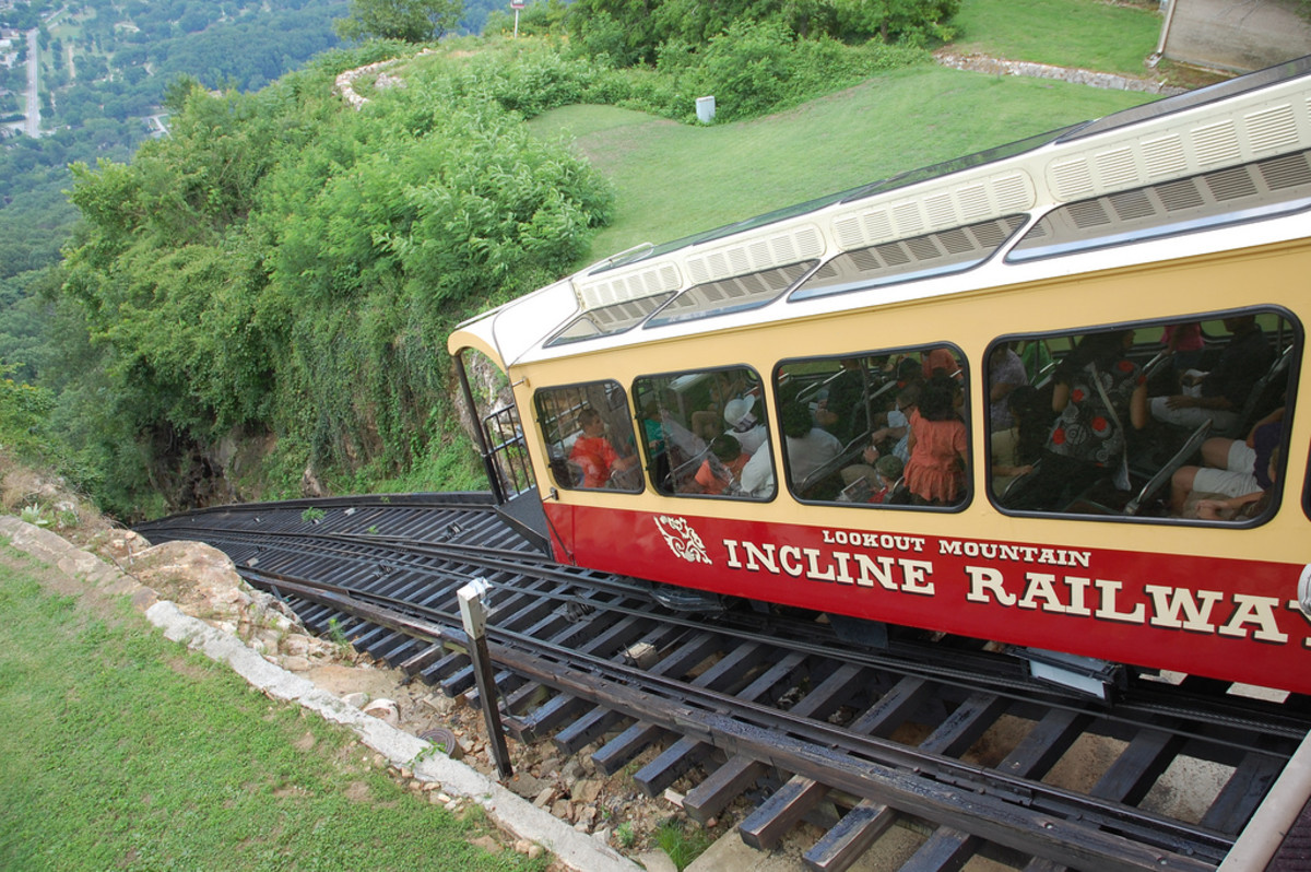Incline Railway atop Lookout Mountain