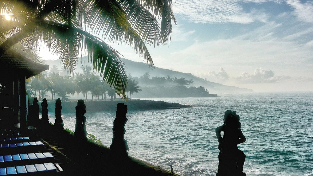 Beautiful Candidasa beach in Bali!