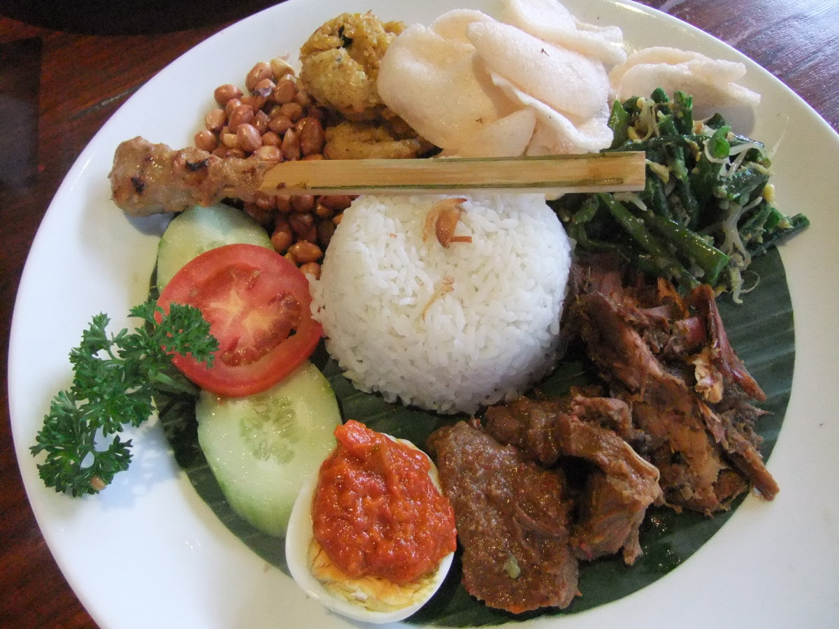 Don't be afraid to indulge in the delicious Indonesian cuisine.  Just eat at clean places!