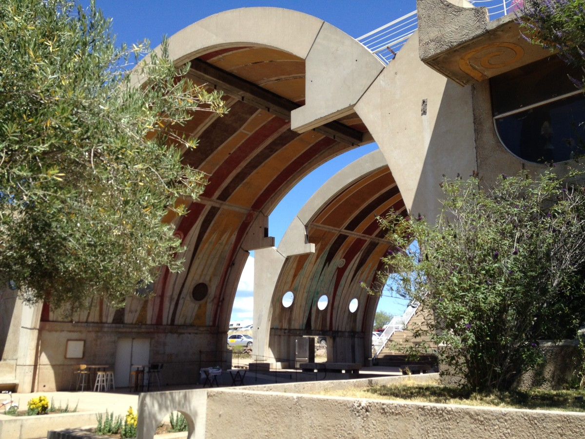 Some of the many arches in Arcosanti