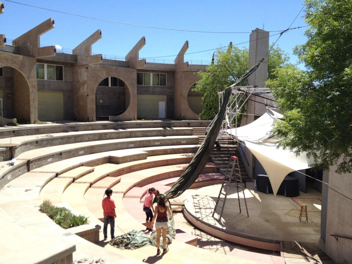 Arcosanti's outdoor amphitheater.