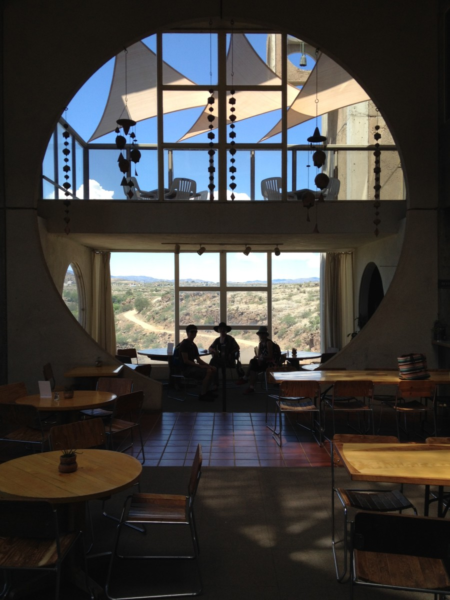 Dining Room Of Public Cafe Inside Entrance Building At Arcosanti