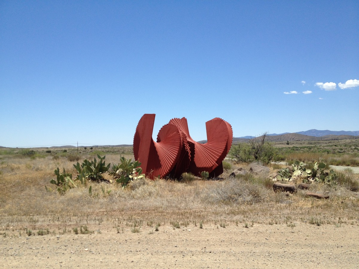 Sculpture next to the Visitor Parking Lot adjacent to Arcosanti.