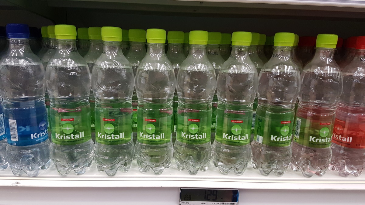 There's no need to buy bottled water in Iceland, where the tap water is extremely clean. If you want sparkling water with a bit of flavor, then try Kristal with a bit of lime.