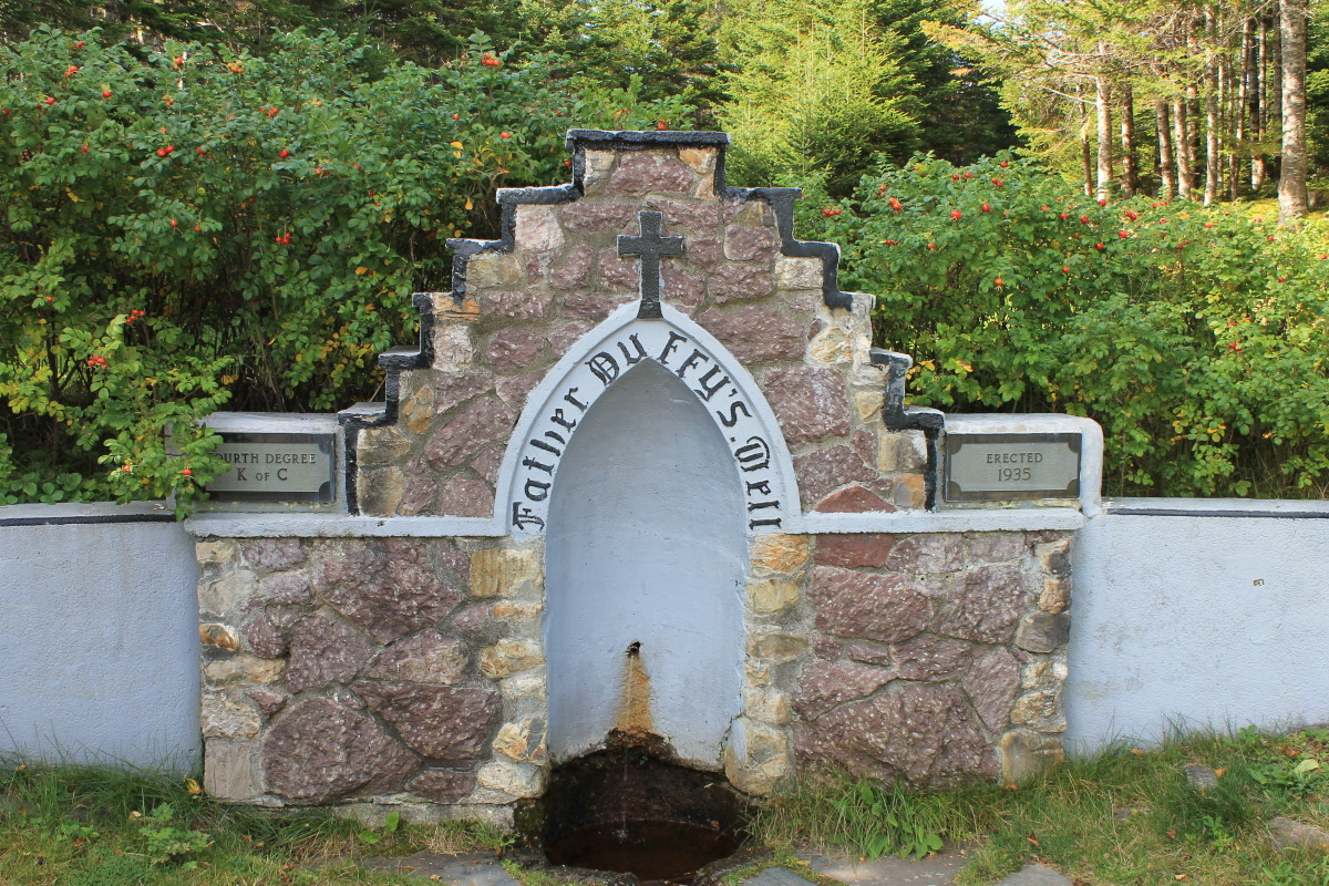 Grotto at Father Duffy's Well Provincial Park, erected in 1935 by the Knights of Columbus.