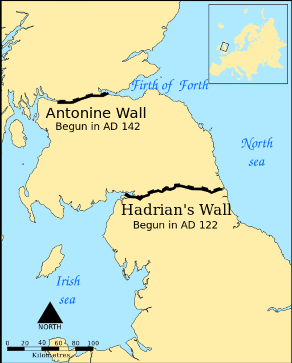 Locations of the two walls