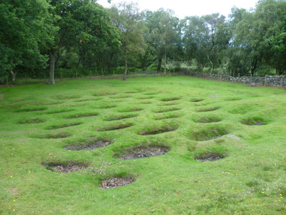Lilia (defensive pits) at Rough Castle