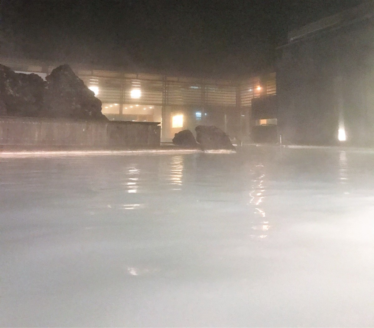 Midnight in the Garden of Good and... Private Geothermal Hot Spring Lagoon. Steamy!