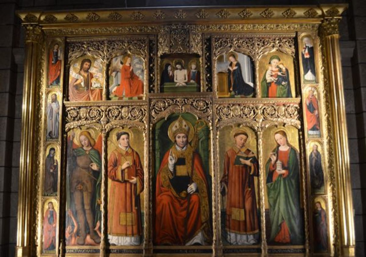 Retable by Louis Brea c 1500 (c) A. Harrison
