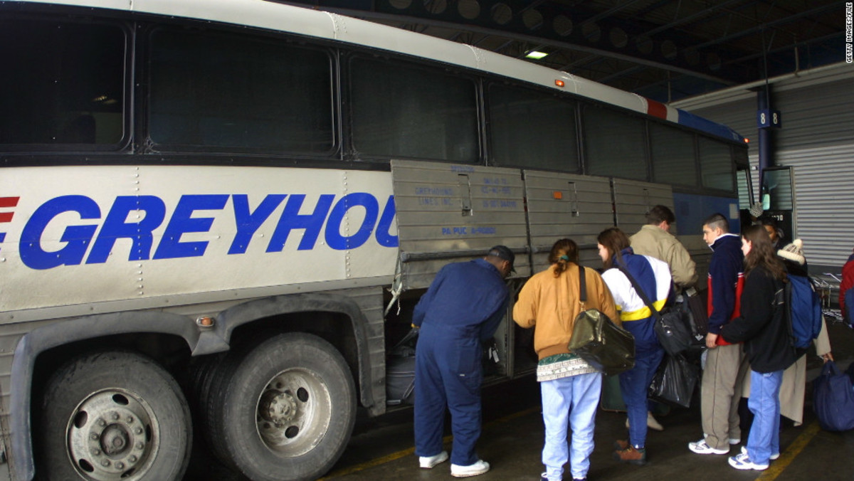 You are responsible for claiming your luggage when you are finished traveling on a Greyhound bus.