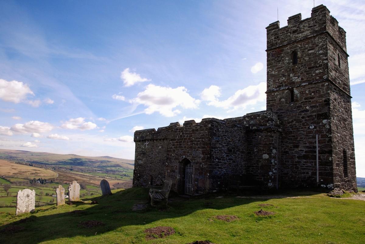 Dartmoor landscape in South Devon