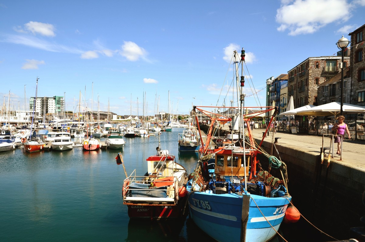 The Barbican area at Plymouth is just a short walk from the City
