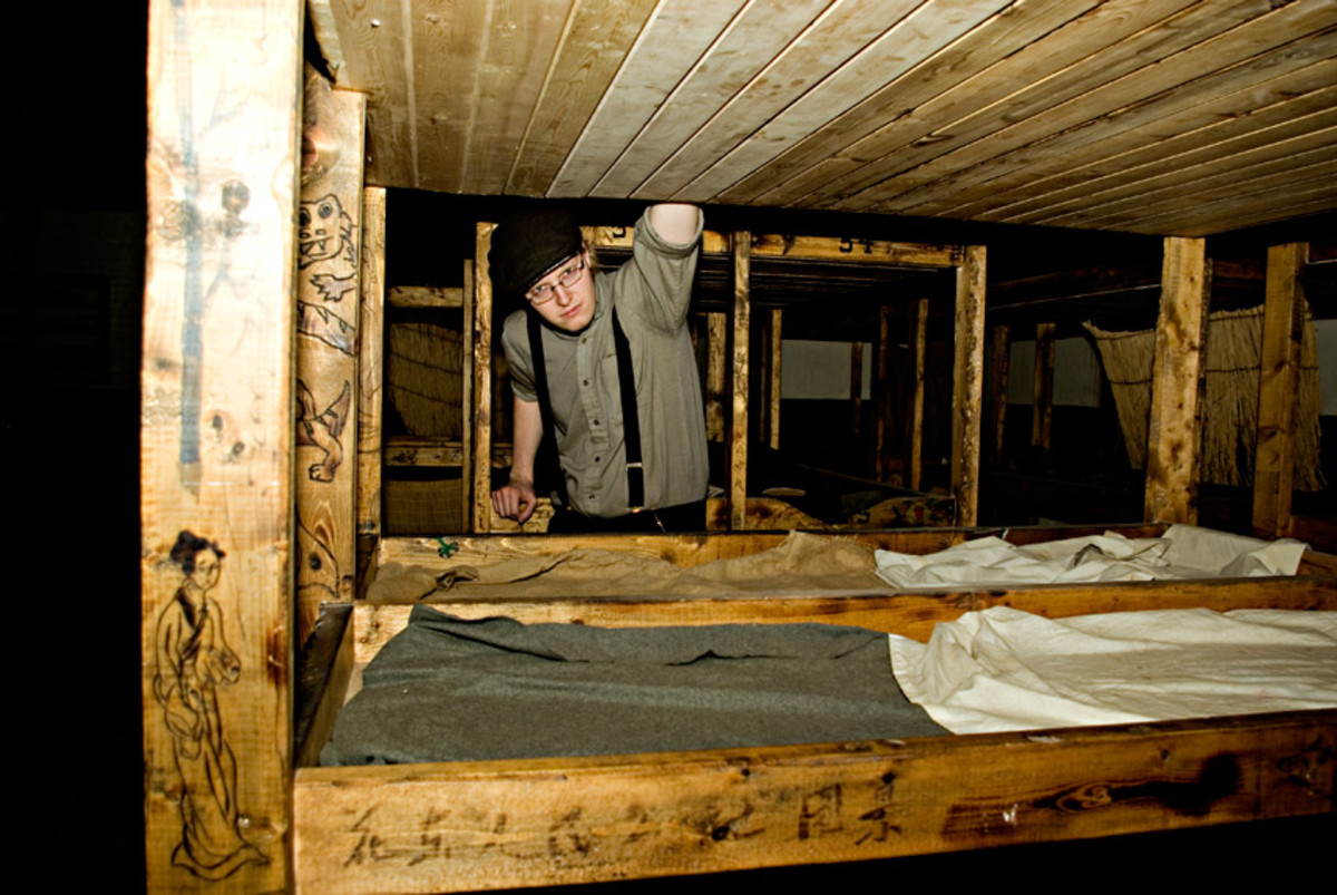 Bunks in one of the Underground Tunnels, Moose Jaw, Saskatchewan
