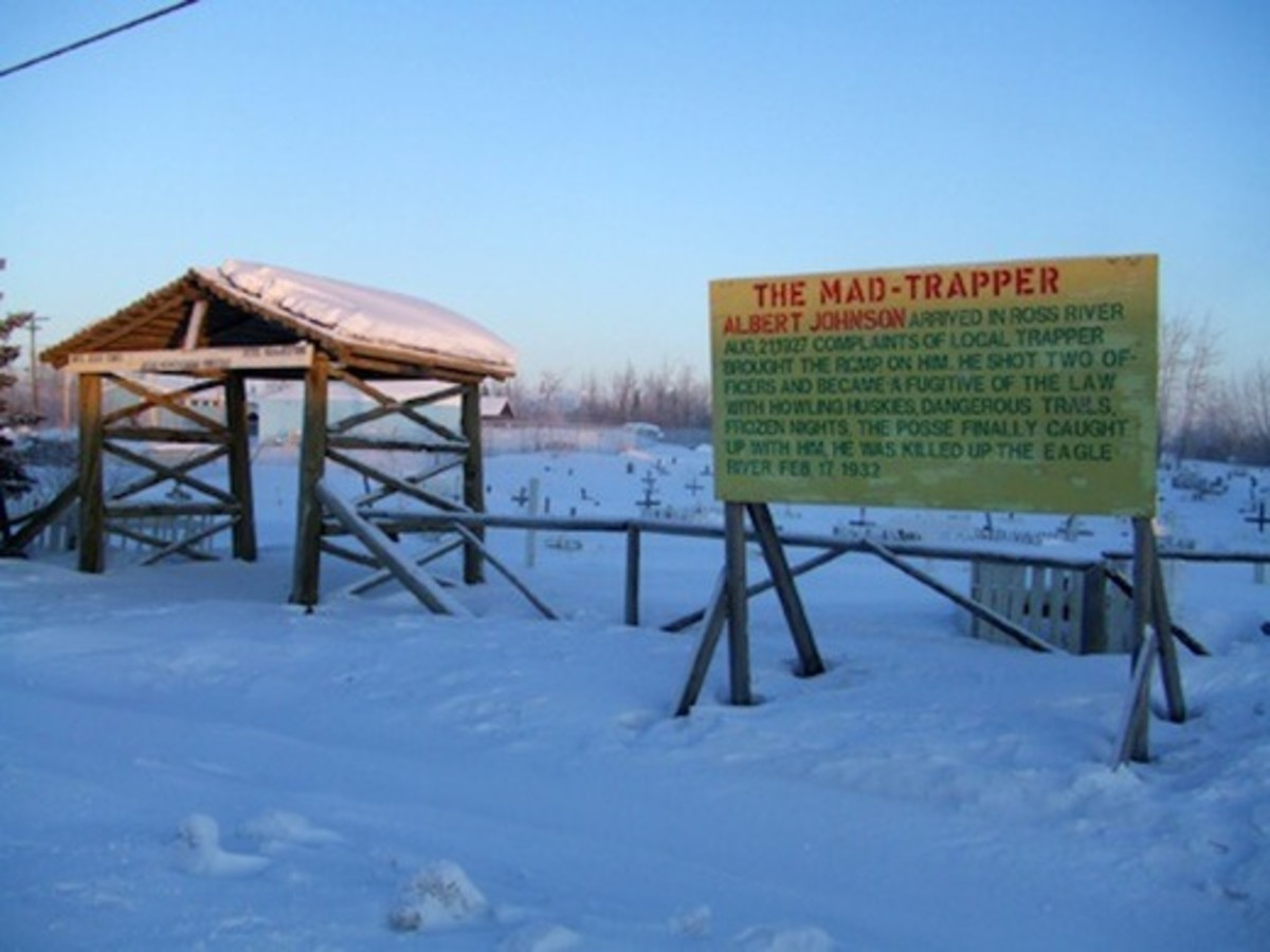 The grave of the Mad Trapper of Rat River, Aklavik, Northwest Territories, Canada.