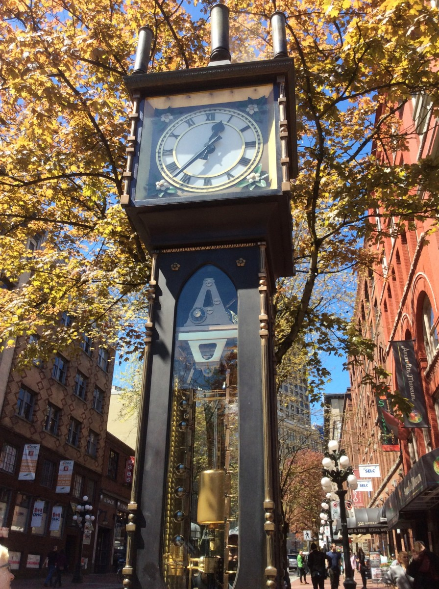 The Gastown steam clock in May