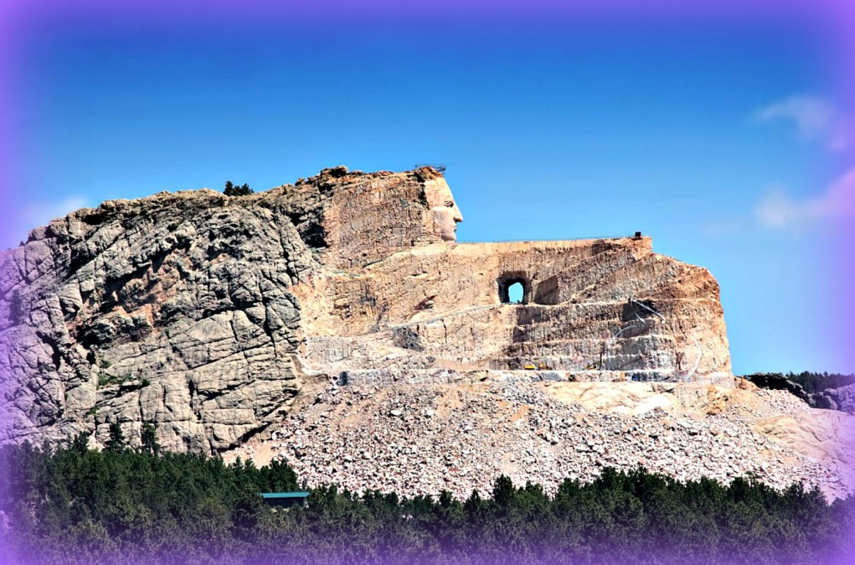 The Crazy Horse Memorial is going to be the 8th wonder of the world once it is finished.