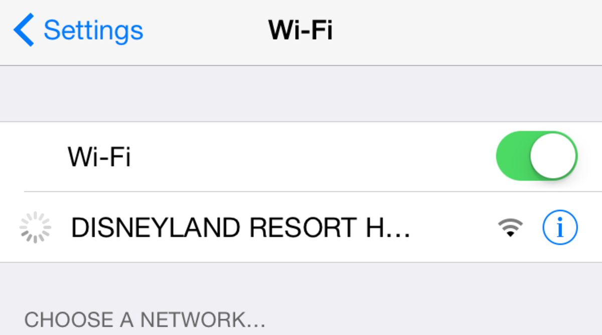 Free WiFi inside of California Adventure.