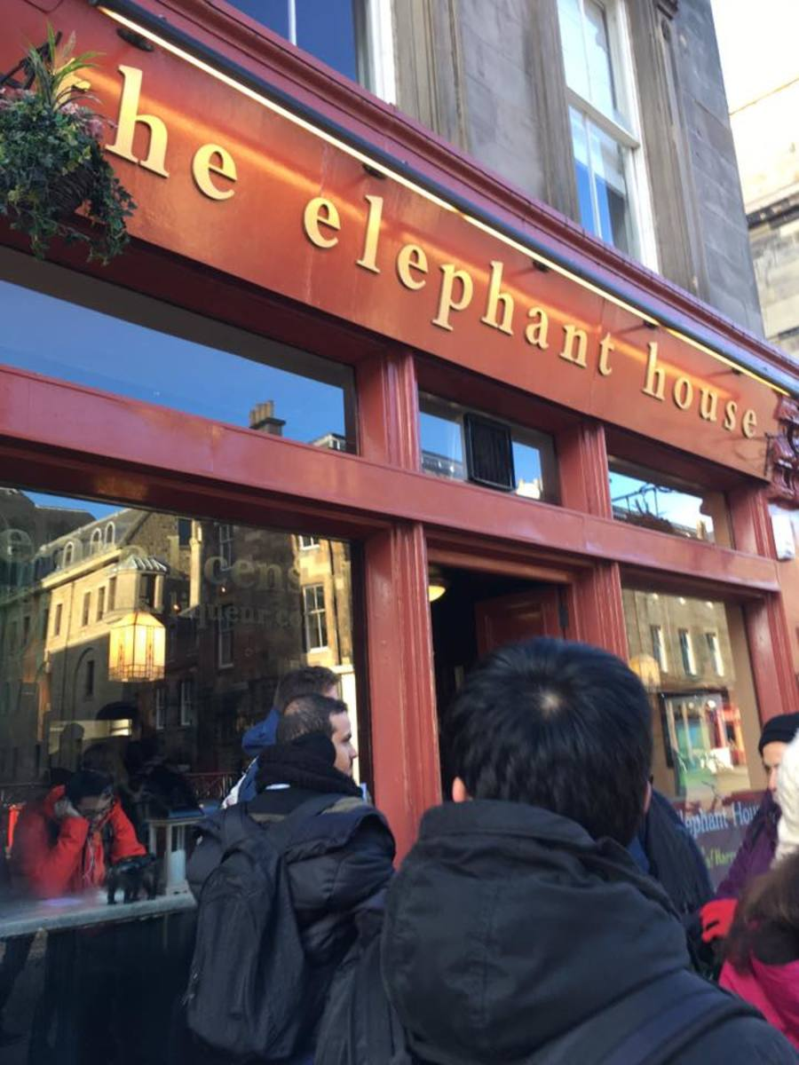 The shop where J.K. Rowling wrote Harry Potter.